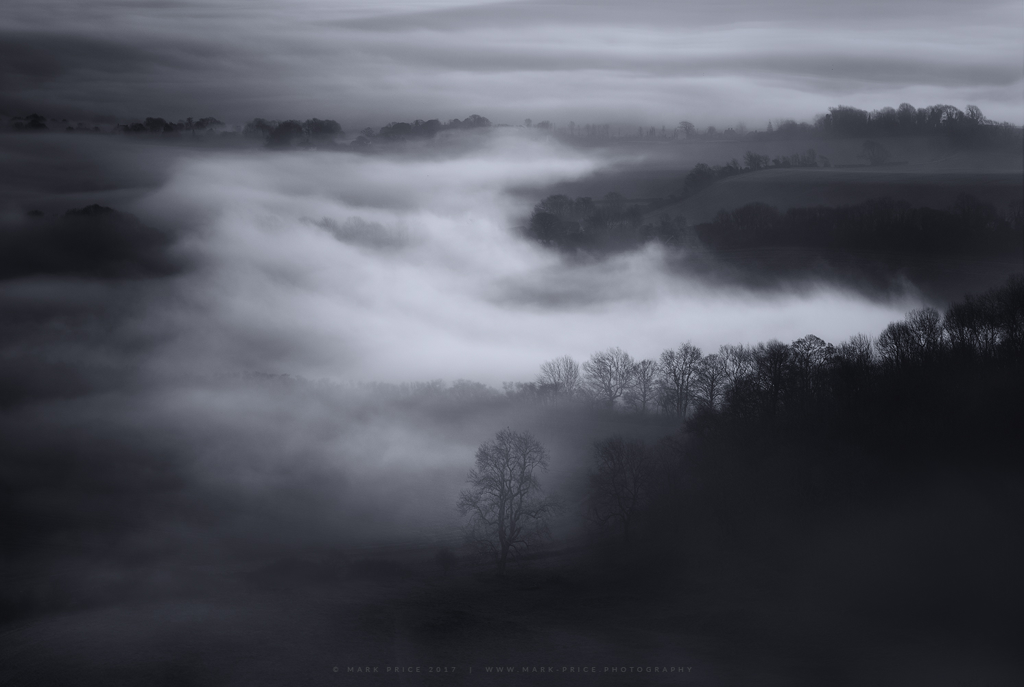 Thick morning mist covering East Sussex, by Mark Price Photography