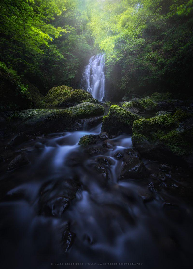 Glenoe waterfall in Ireland, a serene gem