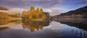 Loch Chon during the height of Autumn