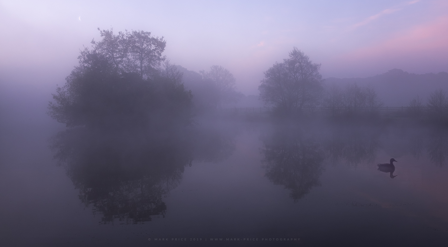 Pre-dawn tranquility at a Sussex lake