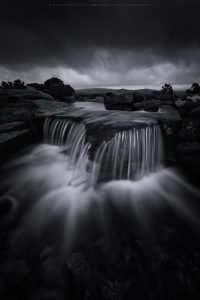 A small waterfall during a moody day on Dartmoor