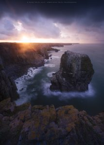 The dramatic South Wales coastline at dawn