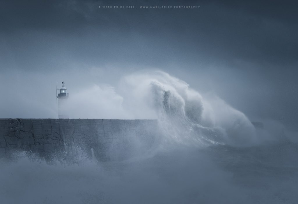 A Sussex harbour is overpowered by stormy seas