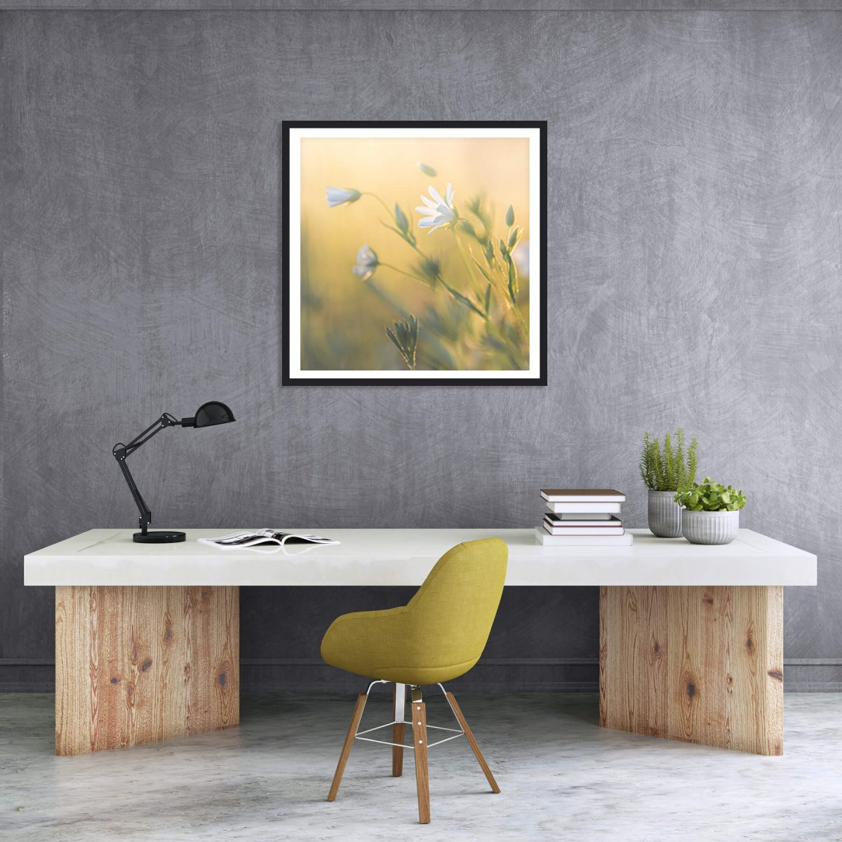 modern living room with GreenStreet print by Mark Price Photography