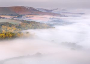 Aerial photograph of the south downs in sussex by Mark Price, UK Landscape Photographer
