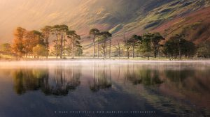 Beautiful light and surface mist in the Lake District