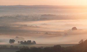 Lovely morning light and seasonal mist across East Sussex on a September morning