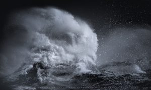 The wild power of the sea during Storm Bella, 2020