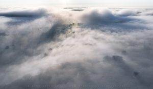 Sensational and dynamic low cloud and fog blankets the Ditchling Beacon area of the South Downs in Winter 2021
