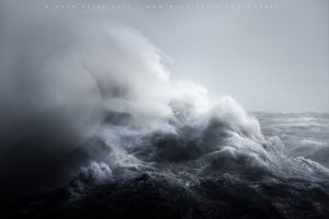 Incredible wave shape off the coast of Sussex in a summer storm